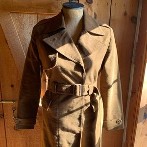 Chocolate Brown GAP Trench Coat with Belt